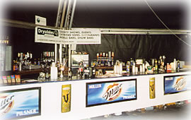 Image: Bar in Princes Street Gardens, Edinburgh Festival